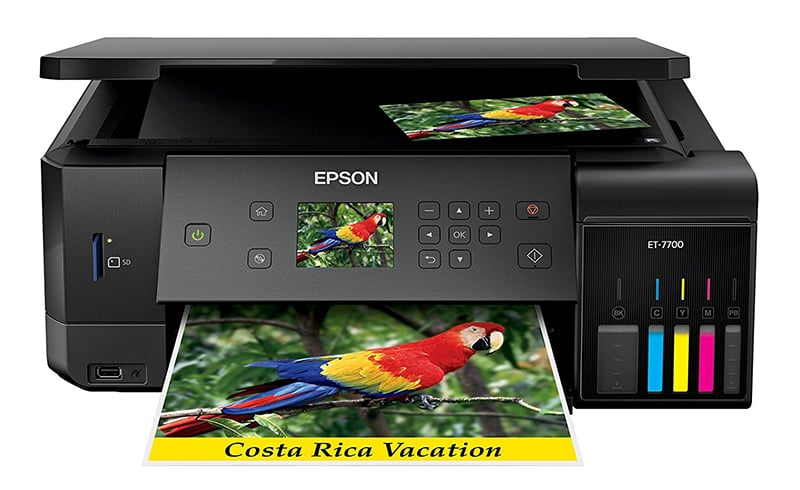 Epson Expression Premium ET-7700 EcoTank Printer Review Epson EcoTank ET7700 Review Joes Printer Buying Guide Best Printer Reviews 2019 Best Printer Reviews and Ratings 2019