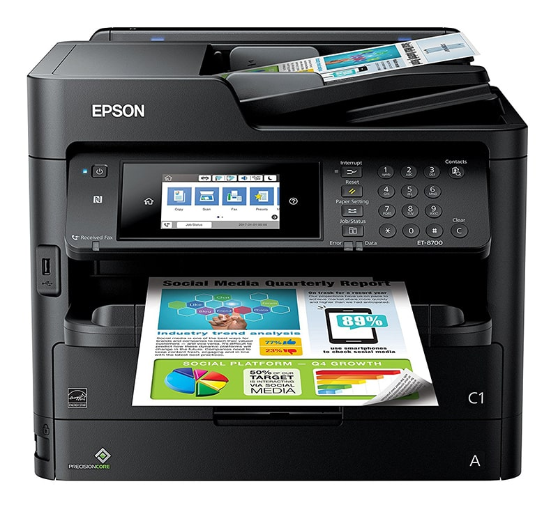 Epson Workforce Pro ET-8700 Review Epson EcoTank Printer Review Joes Printer Buying Guide Best Printer Reviews 2019 Best Printer Reviews and Ratings 2019